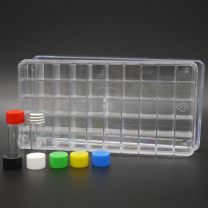 50 whiteglassvials 2 ml in a polystyrene box with aluminium screw cap